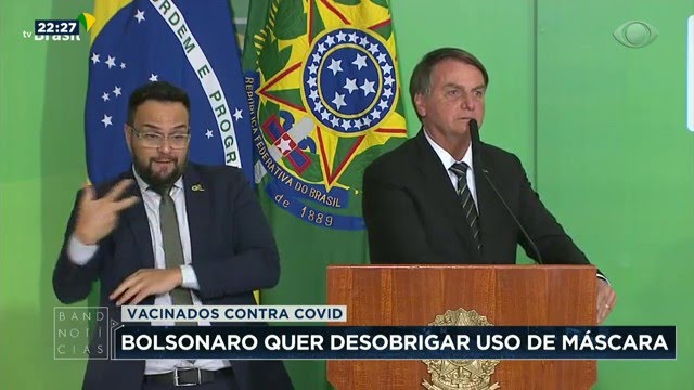 Bolsonaro quer desobrigar o uso de máscara